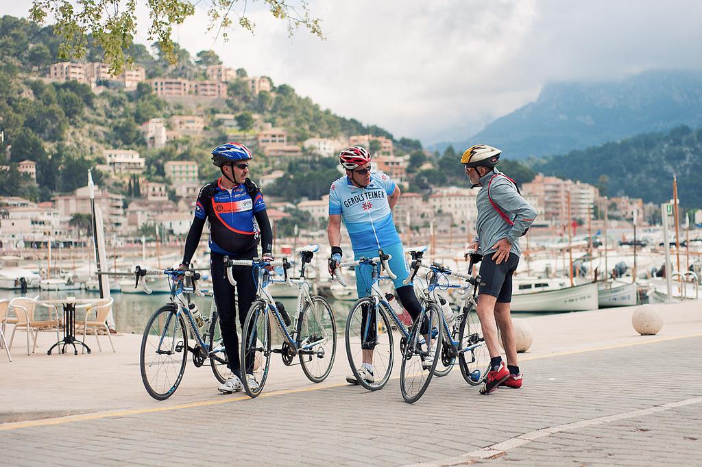 Ciclisti amatoriali maiorca
